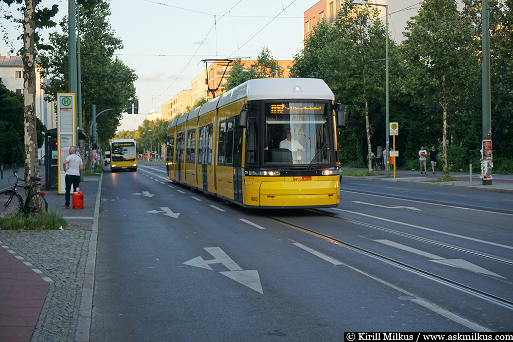 Berlin tram and bus
